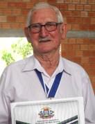 Augusto Dunk, pioneiro em Canarana, recebe a Comenda Desbravador Norberto Shwantes